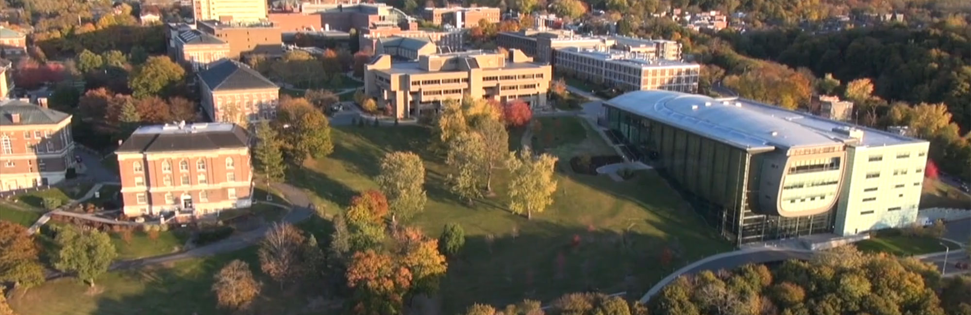 EMPAC on the RPI campus from a drone