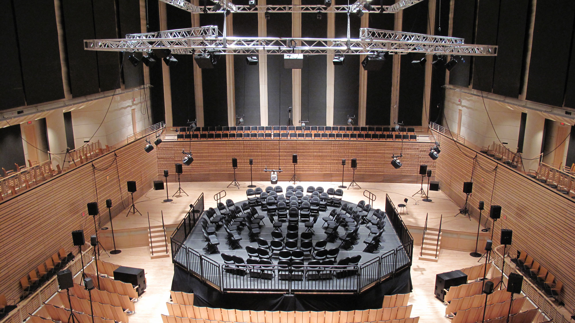 the concert hall setup for multichannel