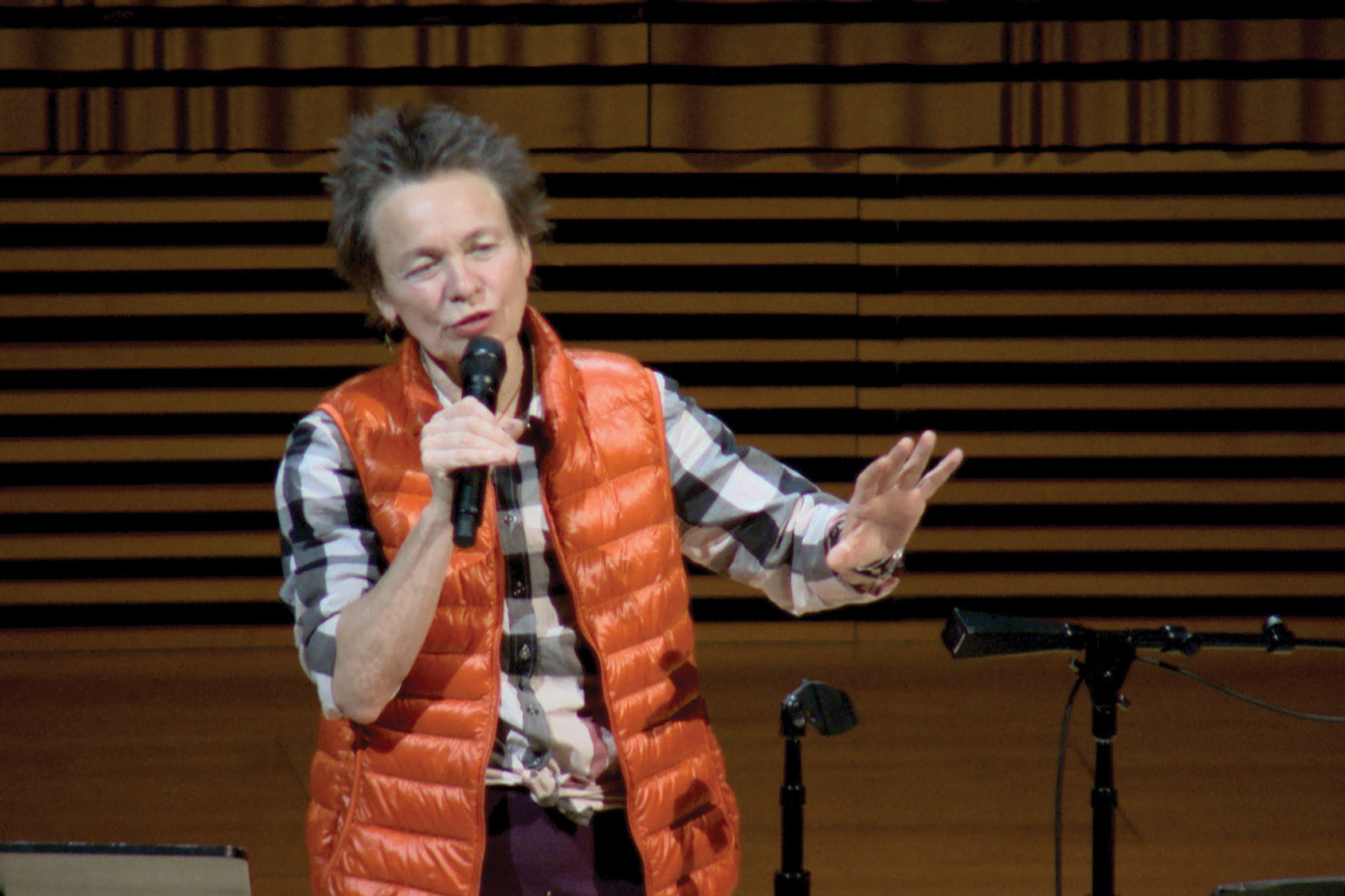 Laurie Anderson in the concert hall.
