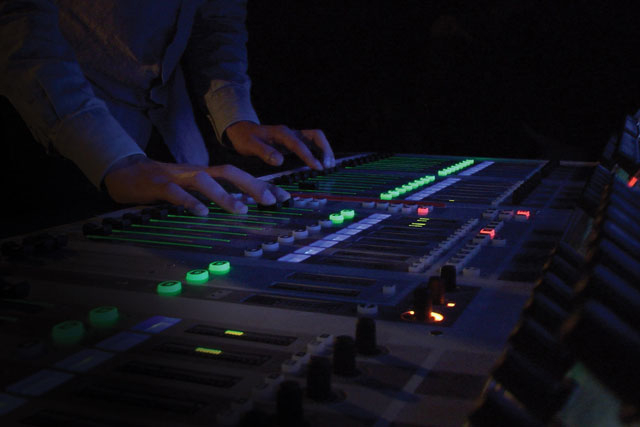 hands on a sound board