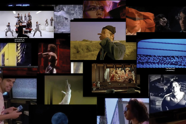 a collage of film stills