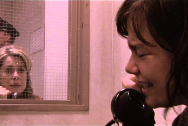 a woman crying on the phone