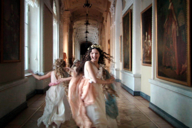nymphs running down the hall of the hermitage in st petersburg